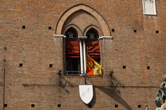 Finestra del castello Immagine Stock Libera da Diritti