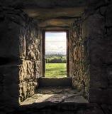 Finestra del castello Fotografia Stock