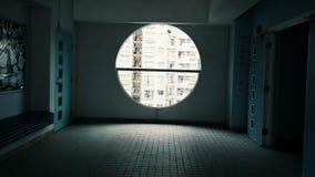 Finestra del cerchio Immagini Stock