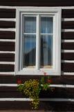 Finestra del cottage Fotografia Stock Libera da Diritti