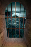 Finestra del Dungeon Fotografie Stock