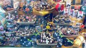 Finestra del negozio del cioccolato Immagine Stock