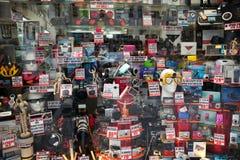 Finestra del negozio della macchina fotografica di NY Fotografia Stock Libera da Diritti