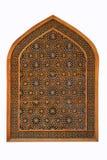 Finestra del reticolo alla moschea di Tehran, Iran immagini stock
