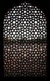 Finestra del reticolo alla tomba di Humayun, Delhi Immagine Stock