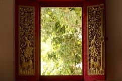 Finestra del ` s del tempio immagini stock