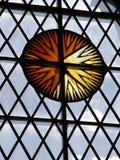 Finestra del sole di vetro macchiato Immagini Stock