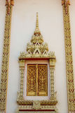 Finestra del tempio di buddismo Fotografia Stock