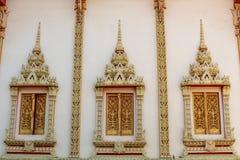 Finestra del tempio di buddismo Fotografie Stock Libere da Diritti
