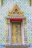 Finestra del tempio nel arun del wat fotografia stock