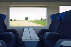 Finestra del treno Immagini Stock