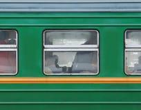 Finestra del treno Fotografia Stock Libera da Diritti