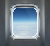 Finestra dell'aeroplano Immagini Stock Libere da Diritti
