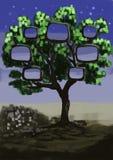 Finestra dell'albero della pittura di CG Fotografia Stock