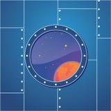 Finestra dell'astronave Fotografia Stock