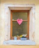 Finestra della Camera a Colmar, Francia Fotografie Stock