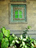 Finestra della casa di Bali Fotografia Stock Libera da Diritti