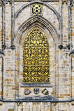 Finestra della cattedrale della st Vitus Fotografie Stock