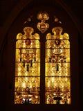 Finestra della cattedrale di Burgos Immagine Stock Libera da Diritti
