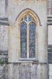Finestra della cattedrale di pozzi Immagini Stock Libere da Diritti