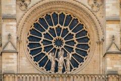 Finestra della chiesa del kathedrale di Notre Dame de Paris Fotografia Stock Libera da Diritti