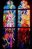 Finestra della chiesa dello Stained-glass Fotografia Stock Libera da Diritti
