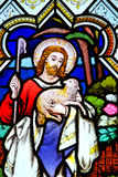 Finestra della chiesa di Cubert ~ Cornovaglia Fotografia Stock Libera da Diritti