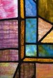 Finestra della chiesa di vetro macchiato dell'annata Immagine Stock