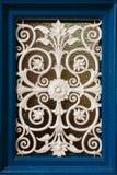Finestra della decorazione bianca del ferro Fotografia Stock Libera da Diritti