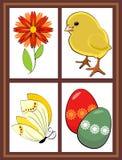 Finestra della primavera illustrazione di stock