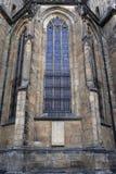 Finestra della st Vitus Cathedral Immagine Stock