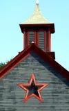 Finestra della stella del granaio Fotografia Stock Libera da Diritti
