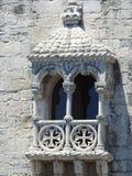 Finestra della torre di Belém Fotografia Stock Libera da Diritti
