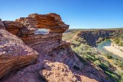 Finestra delle nature nel parco nazionale di kalbarri, Australia occidentale 7 fotografie stock