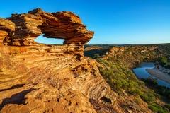 Finestra delle nature nel parco nazionale di kalbarri, Australia occidentale 1 immagini stock