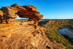 Finestra delle nature nel parco nazionale di kalbarri, Australia occidentale 2 fotografia stock libera da diritti
