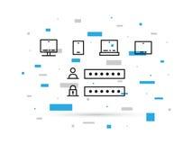 Finestra di Access per l'illustrazione digitale di vettore dei dispositivi Immagini Stock