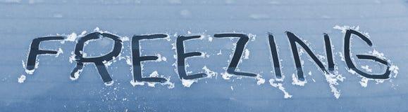 Finestra di automobile congelata Fotografie Stock