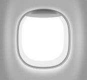 Finestra di bianco del getto o dell'aeroplano Fotografia Stock Libera da Diritti