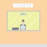 Finestra di biglietto Fotografie Stock Libere da Diritti