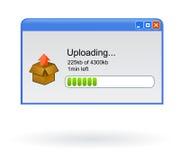 Finestra di browser Uploading dell'archivio Fotografia Stock Libera da Diritti