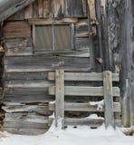 Finestra di cabina in Norvegia Fotografie Stock Libere da Diritti