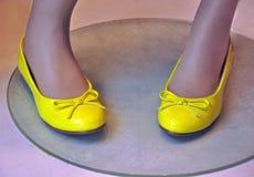 Finestra di deposito delle scarpe Immagini Stock Libere da Diritti