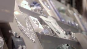 Finestra di gioielleria stock footage