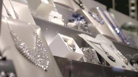 Finestra di gioielleria video d archivio