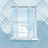 Finestra di inverno Fotografia Stock