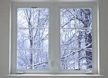 Finestra di inverno Fotografie Stock Libere da Diritti