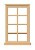 Finestra di legno chiara Fotografia Stock Libera da Diritti