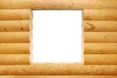 Finestra di legno dell'ostacolo immagine stock