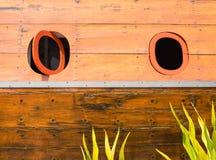 finestra di legno della barca Fotografia Stock